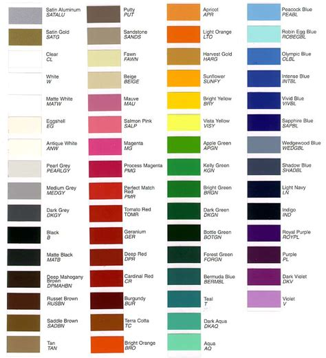 Rose Paint Colors by Tailgate Letter Color Charts