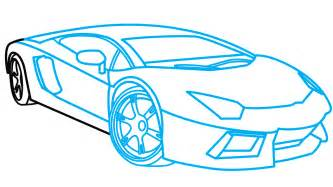 Steps To Draw A Lamborghini How To Draw Lamborghini Aventador A Car Easy Step By