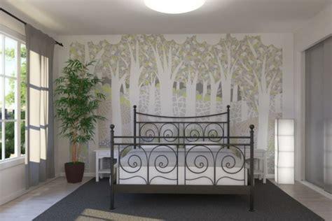 fototapete dachschräge wohnzimmer lila beige