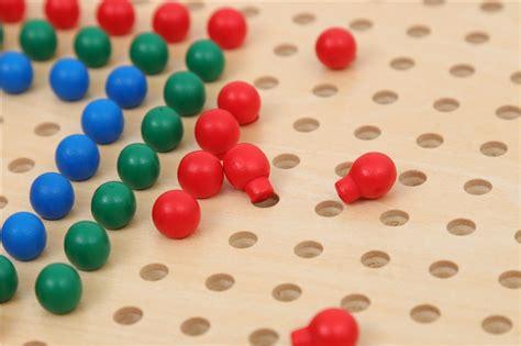 wooden peg board  plastic pegs adena montessori