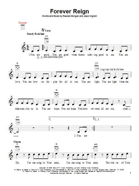 forever reign forever reign sheet music direct