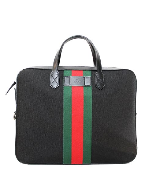 Esquares New Laptop Bag Collection Is Springy by Web Detailed Canvas Slim Briefcase By Gucci Laptop Bags