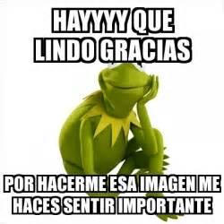 imagenes gracias que lindo meme kermit the frog hayyyy que lindo gracias por