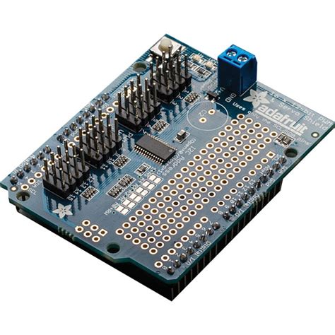 16 Channel 12 Bit Pwm Servo Shield I2c Interface adafruit 1411 servo pwm shield 16 channel 12 bit i2c interface for arduino rapid