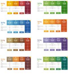 color templates wordpress pricing table plugin pro