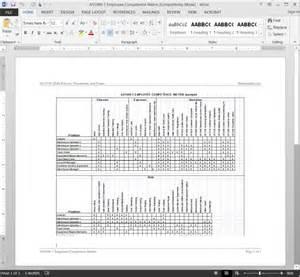 competency matrix template as9100 employee competence matrix