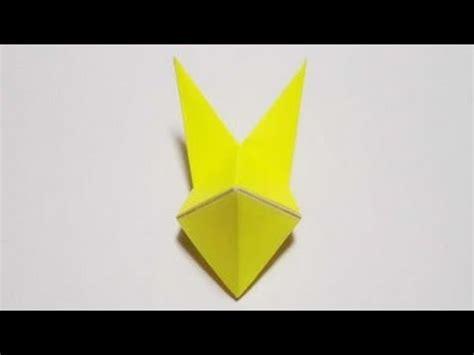 Origami Fox Mask - 折り紙 origami 狐の面 fox mask