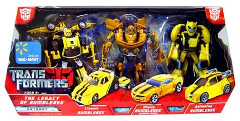 Transformers Deluxe Exclusive Canister Bumblebee transformers exclusive deluxe figure 3 pack legacy of bumblebee classic and