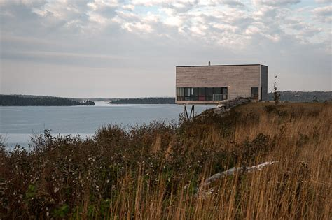 two storey cliff house in scotia designed as a