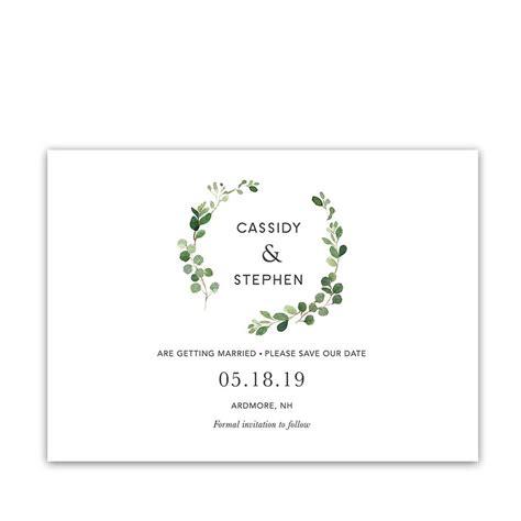 cute groom and bride cartoon save the date wedding invitation