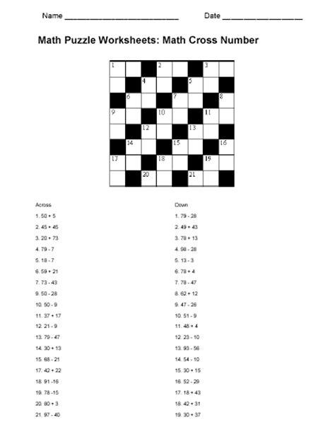Algebra Puzzle Worksheets by Math Puzzle Worksheet Sle