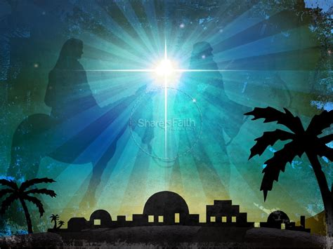 bethlehem powerpoint template christmas powerpoints