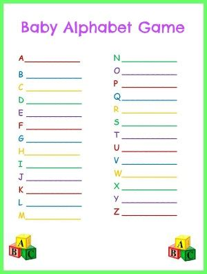 printable alphabet letters for baby shower baby alphabet game for baby shower