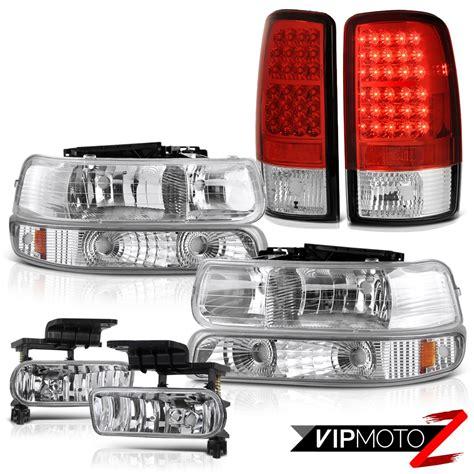2003 chevy tahoe tail lights headlights bumper chrome led tail lights fog 2000 01 02
