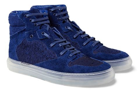 blue and sneakers jeezy wearing balenciaga blue suede high top sneakers on
