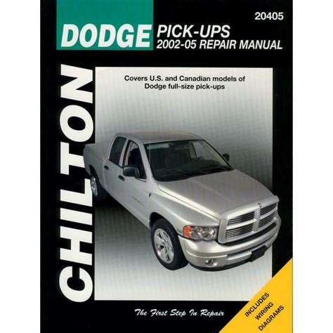 vehicle repair manual 2008 dodge ram 1500 on board diagnostic system chilton repair manual new ram truck dodge 1500 2500 3500 2002 2008 20405 ebay