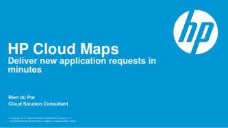 Hp Template by Hp Cloud Maps Customer Presentation