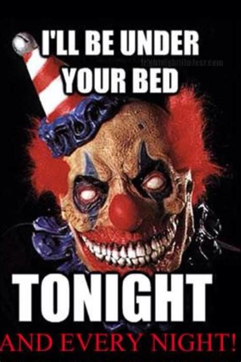 Scary Goodnight Meme - creepy clown quotes quotesgram