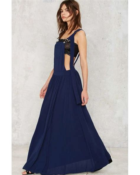 Ovrel Maxi gal stay overall maxi dress in blue save 40 lyst