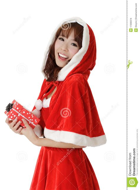 exciting christmas girl stock images image 17330374