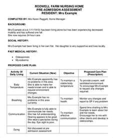 home assessment 18 sle nursing assessment forms