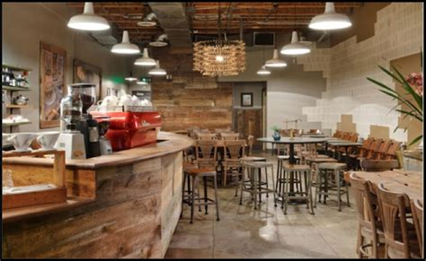 coffee shop design blog sustainable barn lighting in a rustic starbucks coffee