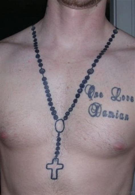 rosary tattoo design 50 best rosary tattoos on chest