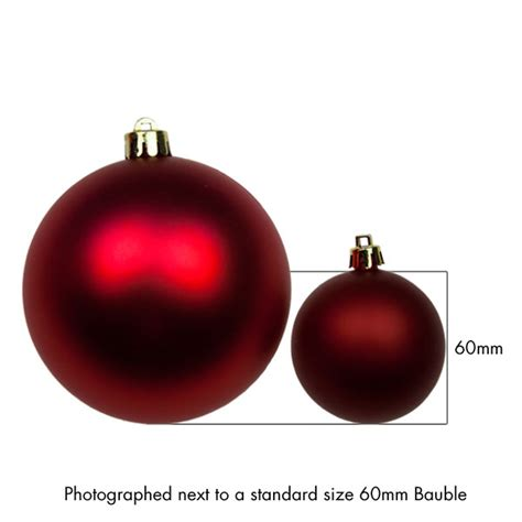 christmas red baubles shatterproof pack of 4 x 100mm