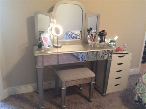 bedroom alluring pier 1 hayworth mirrored vanity