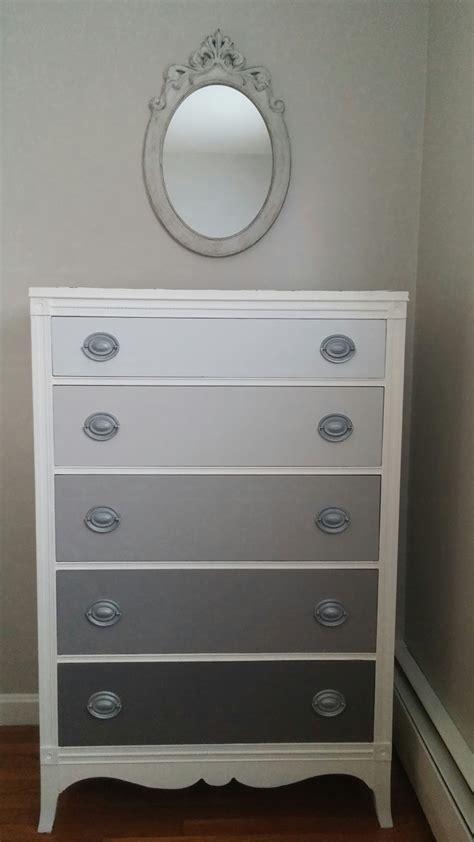 gray and white dresser hydrangeas and harmony gray ombre dresser