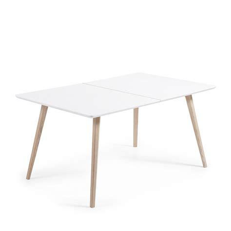 Table Extensible Scandinave by Table Design Scandinave Extensible Bois Laqu 233 Blanc Joshua