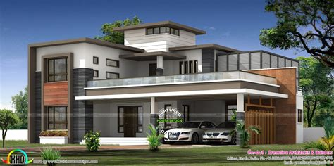 kerala home design kozhikode contemporary house architecture with roof garden kerala