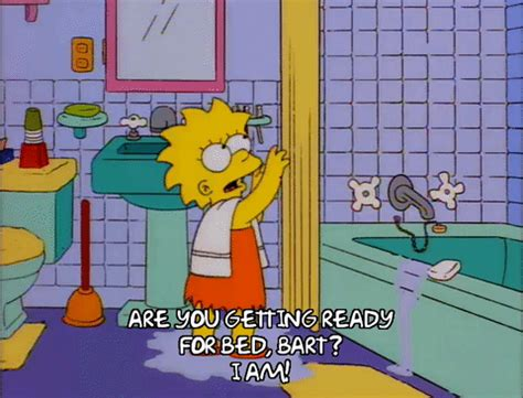 simpsons bathroom lisa simpson water gif find share on giphy