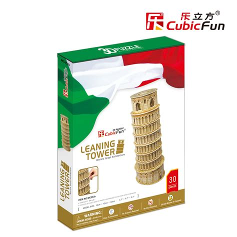 Cubic Puzzle 3d Leaning Tower Of Pisa Large Size leaning tower of pisa cubicfun mc053h 3d puzzle 30 pieces