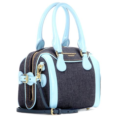 Burberry Quilted Denim Tote by Burberry Prorsum Mini Bee Denim And Patent Leather