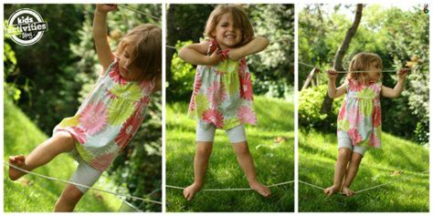 backyard tightrope 18 diy ourdoor games to make your backyard more fun