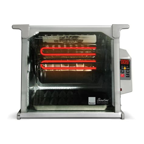 ronco upholstery ronco showtime digital rotisserie and bbq oven platinum