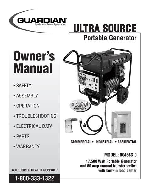 generac   portable generator user manual manualzz