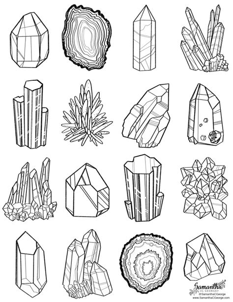 free coloring page gems and minerals c george