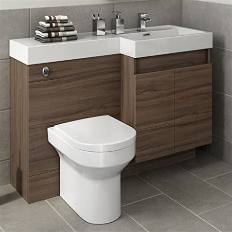 Walnut Bathroom Furniture Uk 1200 Mm Modern Walnut Bathroom Vanity Unit Basin Sink