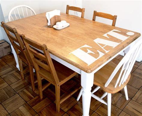 Stencil Table by Home Dzine Home Decor Add A Stencil Design To A Dining Table