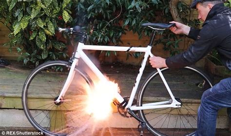 spray painting in mines inventor creates a bike mine bomb that attaches to your
