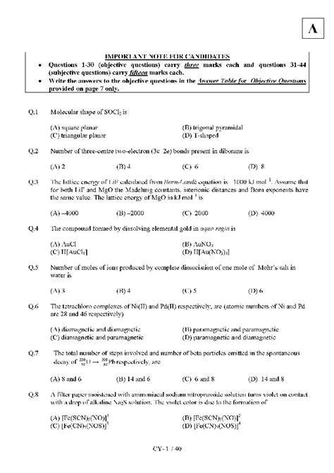 question pattern of jam 2016 iit jam chemistry solved papers 2018 2019 studychacha