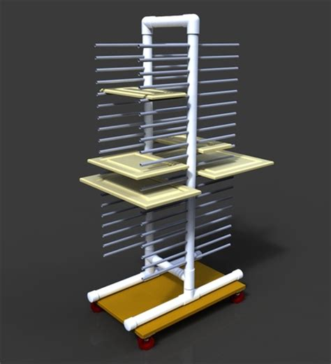 Drying Racks For Cabinet Doors Painting Rack For Cabinet Doors Etc Alibre Design Step Iges 3d Cad Model Grabcad