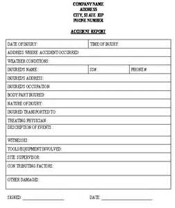 construction accident report template download from