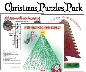 Christmas crossword puzzles there are five printable christmas