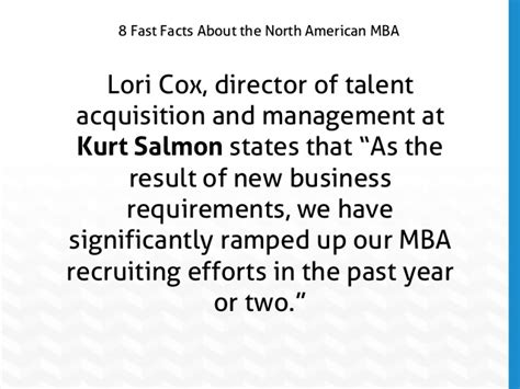Talent Acquisition Project For Mba by Slideshow 8 Fast Facts About American Mba Programs