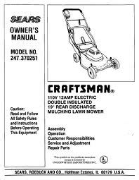 find owner s manuals for craftsman brand mowers