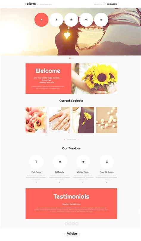 Wedding Organizer Website by Wedding Planner Responsive Website Template 47390
