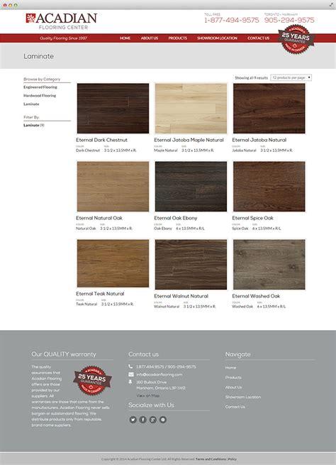 acadian flooring center website design toronto gosek